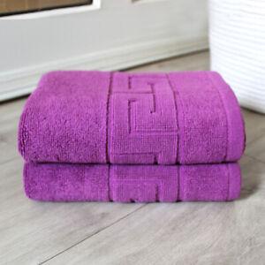 Cotton 985 GSM Bath Mat Washable 20x26 Shower Hurbane Home Mat Towels 2 Pack