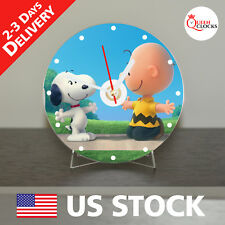 NEW Snoopy CD Clock - Unique Decor Idea for Home USA