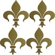 4 Stück 16cm gold Florentiner Lilie Aufkleber Tattoo die cut Fenster Deko Folie