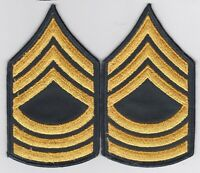 GENUINE MASTER SERGEANT US ARMY CHEVRONS RANK PATCH LOT PAIR VIETNAM MILITARY