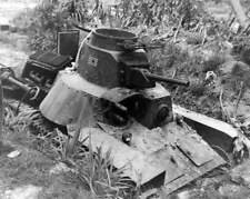 WW2 Photo WWII Abandoned Japanese Tank Emplacement  World War Two Pacific / 4168