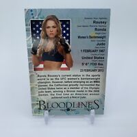 Ronda Rousey 2013 Topps Bloodlines UFC Bloodlines Insert Rookie RC