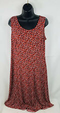 Danny & Nicole Womens Dress Polka Dot Sleeveless Scoop Neck Red Size 8
