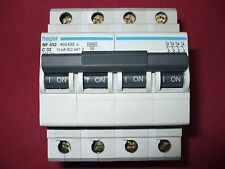 Réf NF432 OU NFN432 DISJONCTEUR HAGER 4P 32A 6/10kA COURBE C 230;400V NEUF