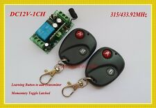 12V wireless remote control switch transmitter&receiver 315/433MHZ M4/L4/T4 adju