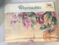 Wamsutta No-Iron Percale Julia Rose Pattern Twin Flat Sheet Vintage Cottage Flor