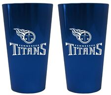 Tennessee Titans Lusterware Pint Glass - Set of 2 [NEW] NFL Cup Mug Drink Bar