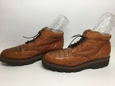 VTG MENS C&G CASUAL ALLIGATOR AND OSTRICH SKIN BROWN SHOES SIZE 9