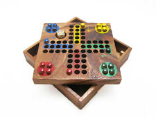 LUDO, Classic Strategy Wooden Game, Brain Teaser, 10 years & up, All Gender, NEW