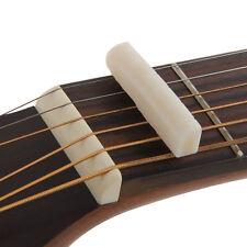 Fresh Buffalo Bone Bridge Saddle And Slotted Nut For 6 String Acoustic Guitar gv