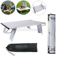 Outdoor Folding Camping Picnic Table Portable Aluminum Lightweight Roll Up w/Bag