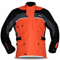 Men Textile Motorbike Motorcycle Jacket Cordura Quilted Wind/Waterproof CE Biker