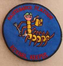 """NAM MADE PATCH 240TH AVN. CO."""" MAINT. PLATOON KENNEL KEEPER"""" EMB CUT EDGE PATCH"""
