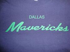 NBA Dallas Mavericks Scripted Throwback Blue Adidas T Shirt Men's size XL
