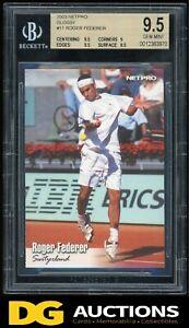 2003 Netpro Glossy Roger Federer Rookie BGS 9.5 (#G11)  Rare