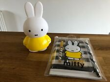 Official Miffy the Rabbit Plastic Moneybox and Stationery Set Bank NEW