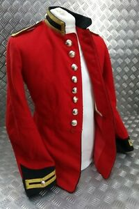 Genuine British Army Issue Life Guards Trooper Red H Cav Tunic Buttoned EBYT334