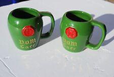 D.O.M. CAFE BENEDICTINE VINTAGE LIQUEUR PORCELAIN CUPS SIPA FRANCE LOT OF 2