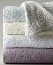Sferra HANNAH King Coverlet & Shams Aqua 3 PC Set Textured Cotton Matelasse New