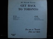 The Beatles Get Back To Toronto I.P.F. Records I.P.F. 1 Vinyl Unofficial Release