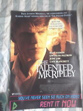 The Talented Mr Ripley 1 Sheet Movie Poster Aust Video Version