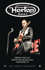 REVEREND HORTON HEAT 2018 HOUSTON CONCERT TOUR POSTER - Psycho/Rocka Billy Music