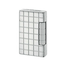 NEW ST Dupont Initial White Bronze Squares Finish Lighter ST020800
