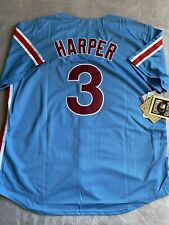 Bryce Harper Philadelphia Phillies Throwback Jersey New W/Tags Size XL