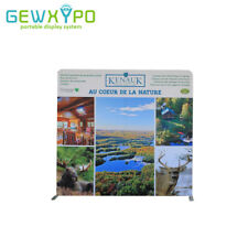 8ft*8ft Portable Straight Trade Show Display Wall With One Side Printed Banner