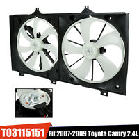 Dual Condenser Cooling Radiator Fan w/Motor For 2007-2009 Toyota Camry TO3115151