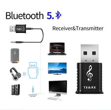 2 in 1 USB Bluetooth 5.0 Transmitter Receiver 3.5mm AUX Stereo Audio Car Adapter