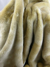 """Golden Tissavel Luxary Fox Faux Fur Fabric- 58""""-60"""" WIDTH"""