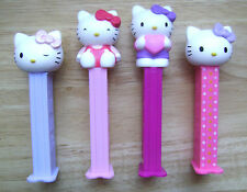2015 EUROPEAN PEZ SET OF 4 MINT LOOSE HELLO KITTY SOLID