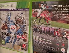 XBOX 360 gioco Madden NFL 13 xbox360 SPORT GIOCO footbool 2013 leghe GIOCO NUOVO OVP