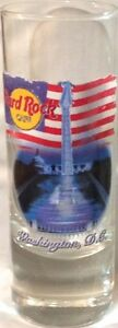 "Hard Rock Cafe WASHINGTON DC 2004 City Tee Shirt 4"" SHOT GLASS Cordial GLASSWARE"