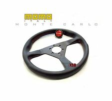 MOMO Monte Carlo 350MM Black Steering Wheel With Red Stitching MCL35BK3B