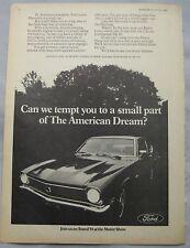 1969 Ford Maverick Original advert