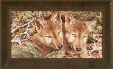 MISCHIEF MAKERS by Jay Kemp 16x26 FRAMED PRINT PICTURE Red Fox Pups Puppies