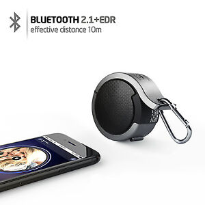 High Bass Bluetooth Speaker Wireless Audio Player For Smartphone Tablet Grey