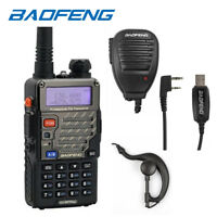 Baofeng UV-5R Plus + USB Cable Kit + Speakers VHF/UHF Ham Radio Walkie Talkie