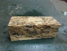 MM-SPALTED  MAPLE  DELUXE  KNIFE BLOCK/SCALES/ CALLS/ PEN BLANKS--MM--34