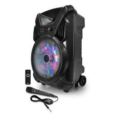 """Pyle 12"""" Bluetooth Portable PA Speaker & Mic System, Rechargeable, DJ Lights"""