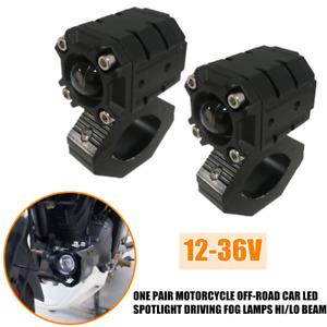 2PCS 12-36V Truck Motorcycle Off-road LED Spot Hi/Lo Beam Light Driving Fog Lamp