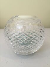 """Waterford Crystal 6"""" Rose Bowl with Marbles"""