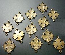 4 Leaf clover links charms pendants earrings add rhinestones dangles 12pc CFP120