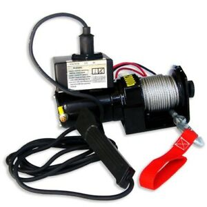 2000lb Pulling 12V Electric Winch Marine Trailer Winch Towing Truck Off Road