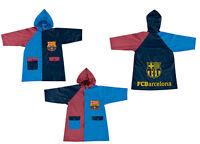 FC Barcelona Football Raincoat Waterproof Hooded Jacket 2 Colours 4 to 8 years