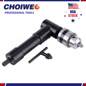 """Cordless Right Angle Drill Attachment Adapter 90 Degree Handle Chuck 3/8"""" Keyed"""