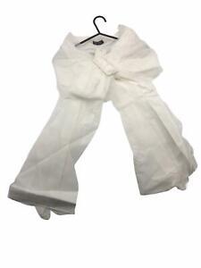 Que Sera Wedding Scarf Belt Cover Up Belt Chiffon Off White Shrug Party Jacket