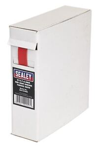 Sealey Heat Shrink Tube Tubing Wire Wrap Sleeve Roll Black or Red Various Sizes